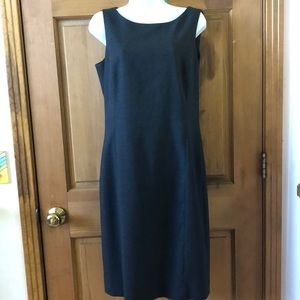 Ann Taylor Charcoal Gray Sheath Dress Wool Size 8